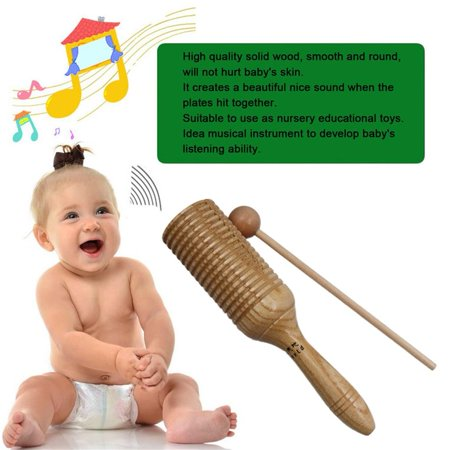 Children Sound Tube Wooden Crow Sounder Musical Percussion Musical Instrument