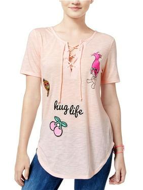 cde2fede5 Product Image Dreamworks Womens Trolls Hug Life Graphic T-Shirt