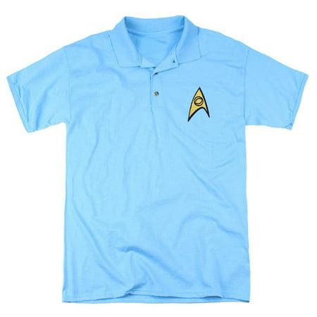 Star Fleet Uniforms (Star Trek Starfleet Uniform Adult Science Blue Polo)