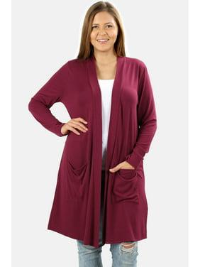 617bf07e9df6 Women s Plus-Size Cardigans and Sweaters - Walmart.com - Walmart.com