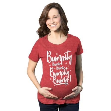 Maternity Bumpity Bump Bump Pregnancy T shirt Funny Christmas Baby Announcement ()