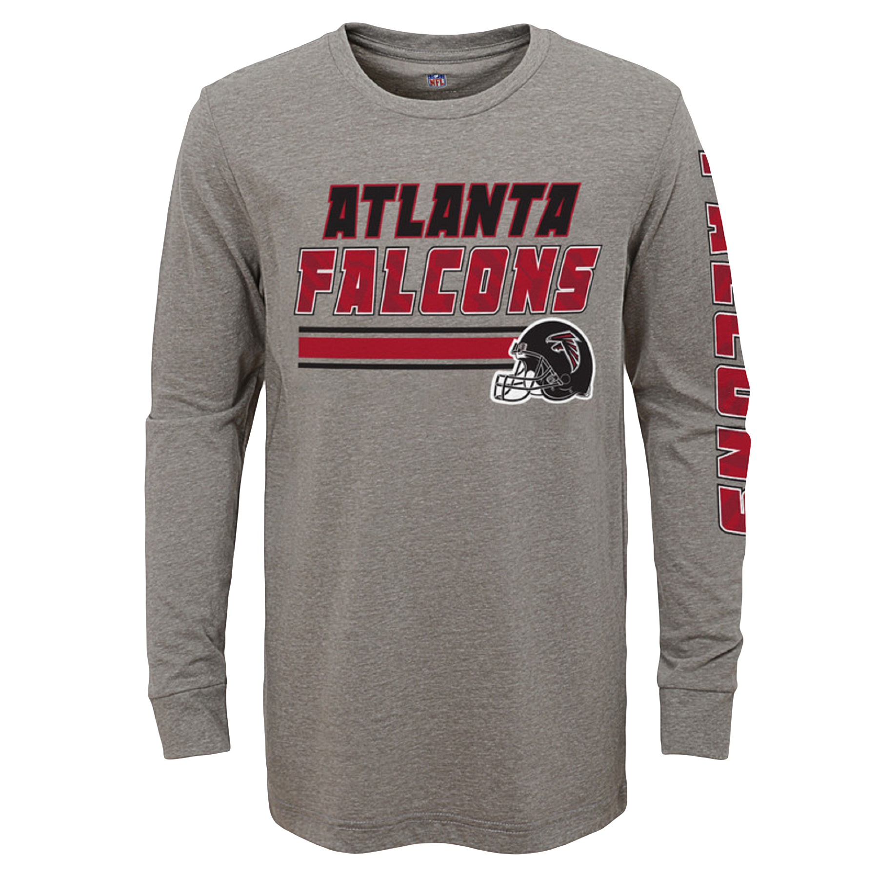 Youth Gray Atlanta Falcons Tri-Blend Long Sleeve T-Shirt