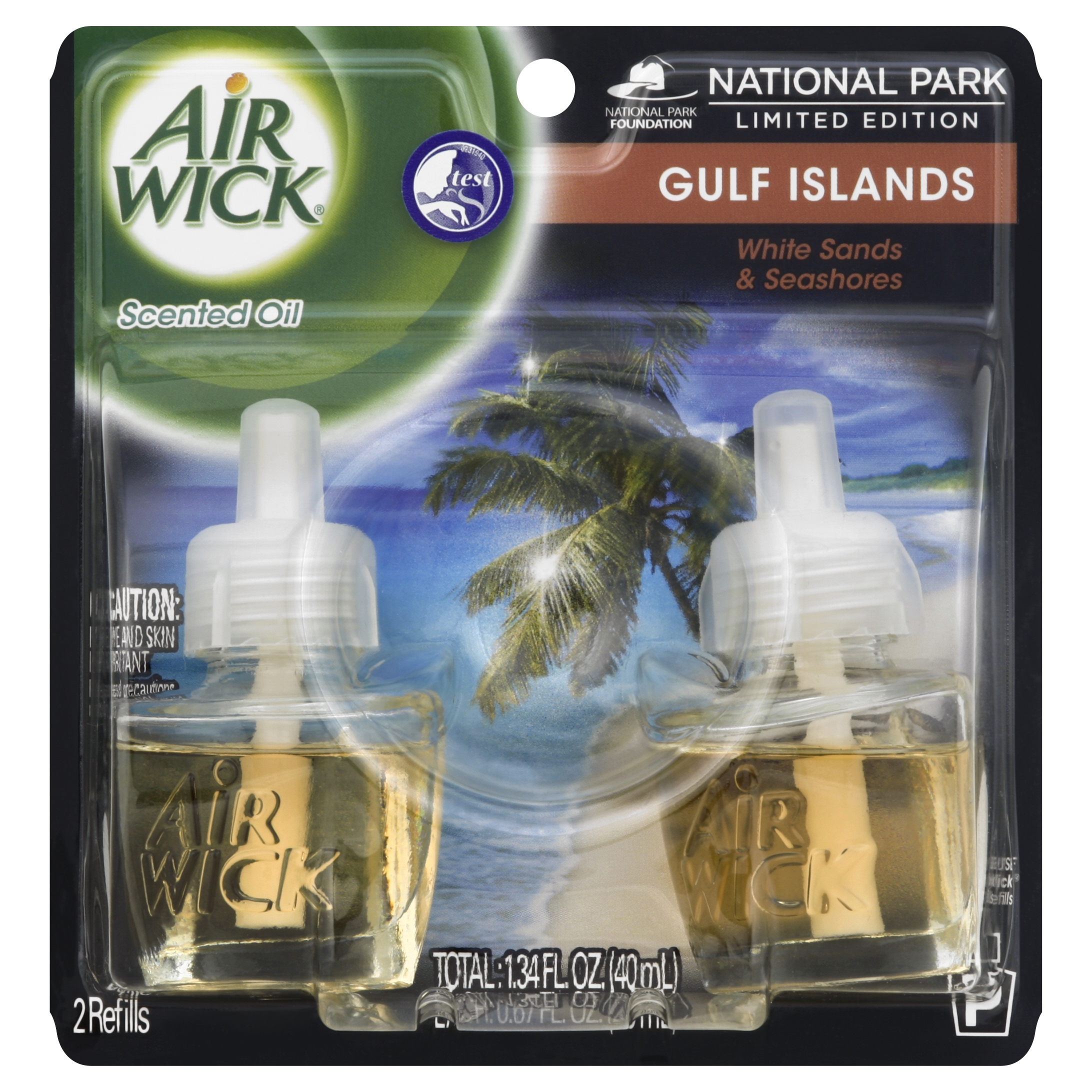 Air Wick Scented Oil Air Freshener, National Park Collection, Gulf Islands, Twin Refills, 0.67 Ounce