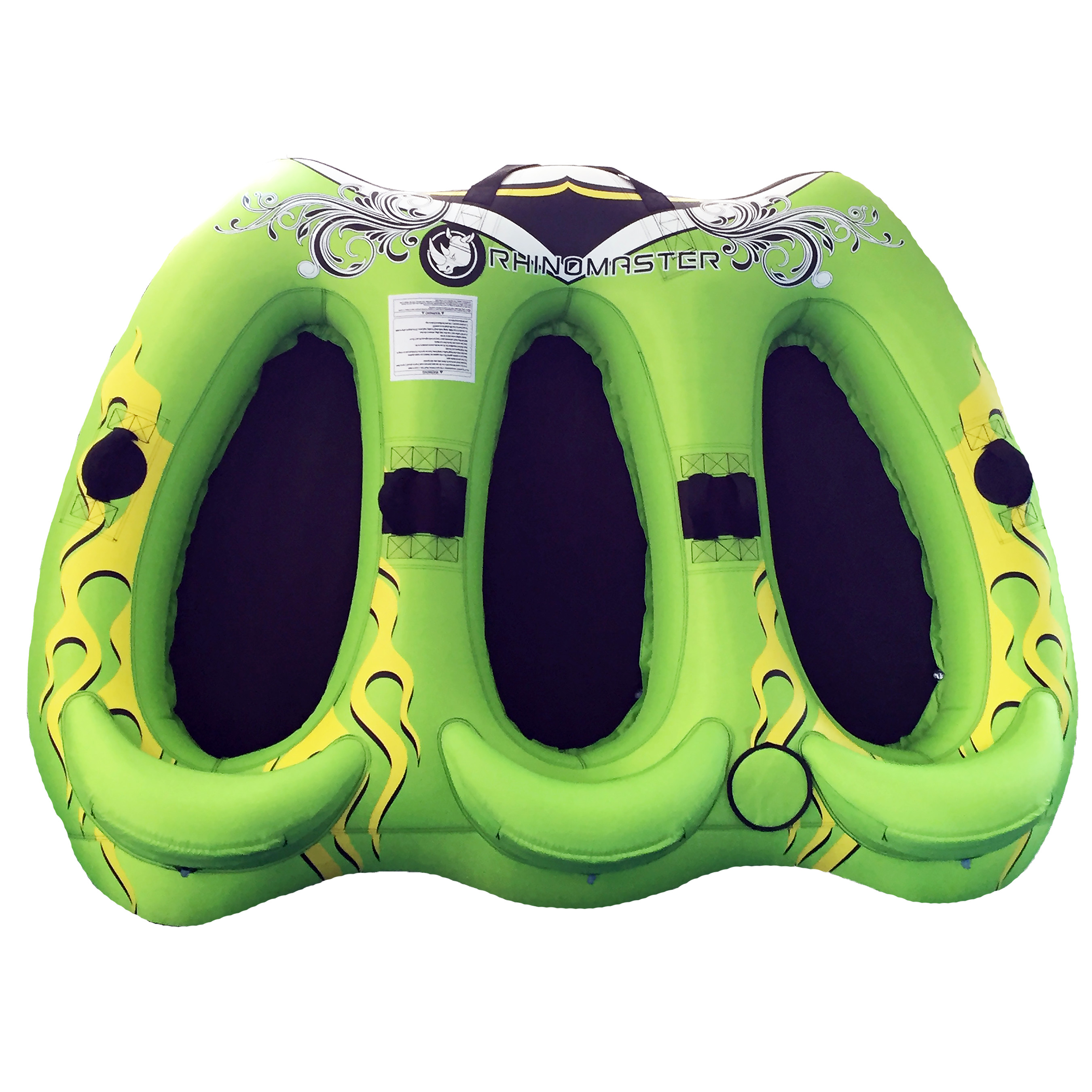 RhinoMaster Tough Viperfish Three - 3-person Inflatable Towable with Rugged Construction for Lake and Ocean Boating