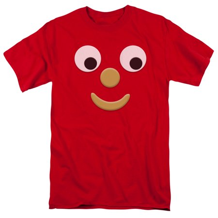 Gumby Halloween (Gumby 1960's Claymation TV Series Blockhead J Face Adult T-Shirt)