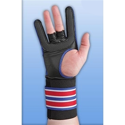 WRIST MASTER 2 BROWN Bowling Wrist Support Right Hand Gloves Bowl n/_o