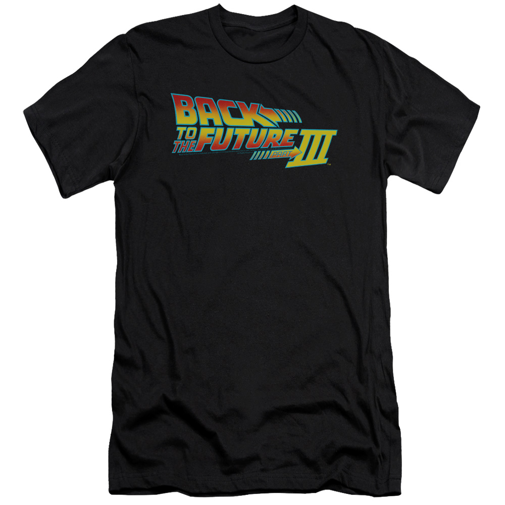 Back To The Future Iii Logo Mens Slim Fit Shirt