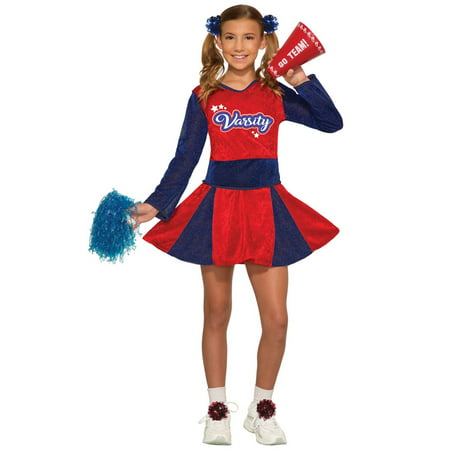 Girls Cheerleader Halloween Costume - Halloween Cheerleaders Makeup
