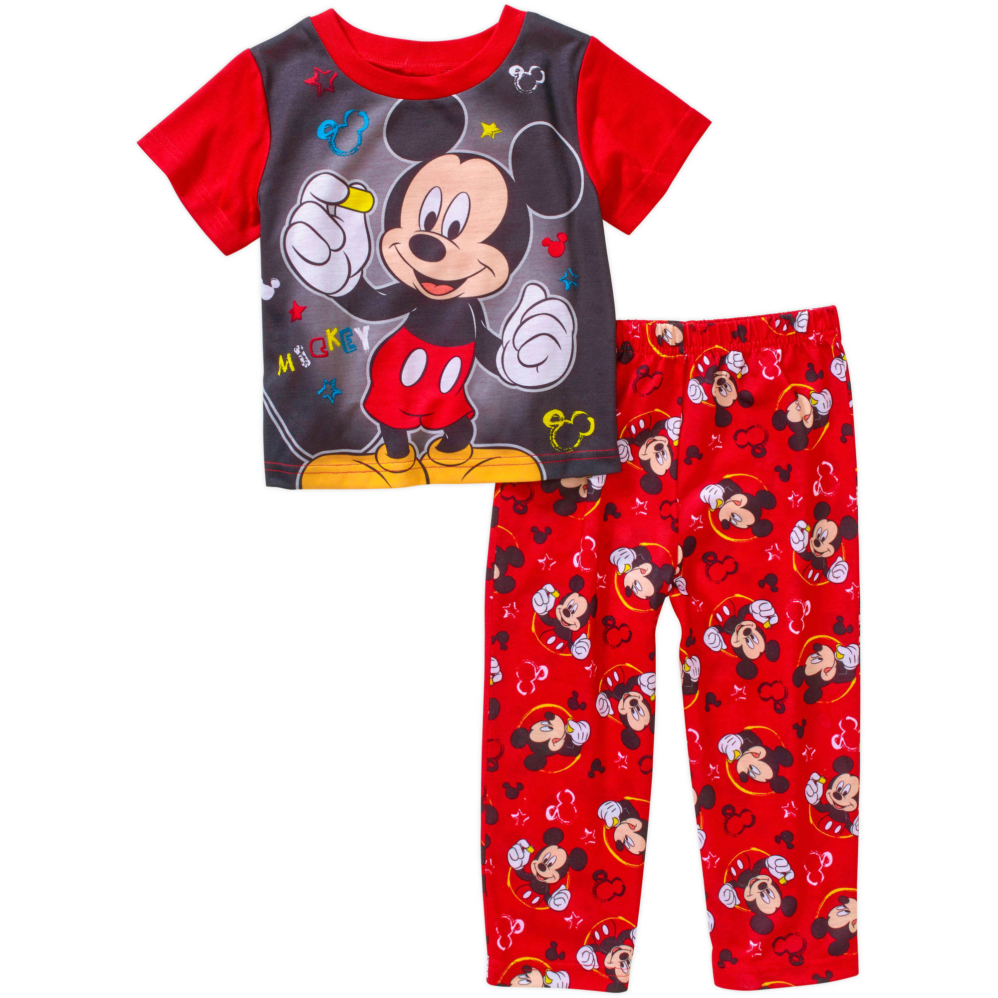 Mickey Mouse Toddler Boy Short Sleeve Pajama Sleepwear Set