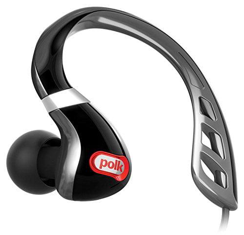 Polk Audio Ultrafit 3000 In-ear Sports Headphone - Stereo - Black - Mini-phone - Wired - 16 Ohm - 8 Hz - 24 Khz - Over-the-ear - Binaural - In-ear (ultrafit3000bkrd)