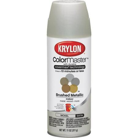 Krylon Diversified Brands 249490 12 oz Metalic Spray Paint, Satin Nickel