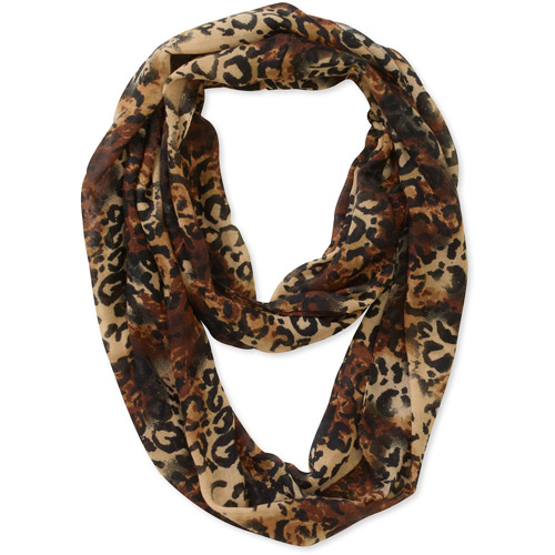 Women's Animal Print Loop Scarf