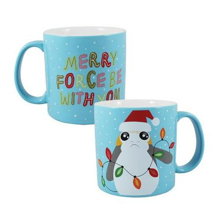 Vandor LLC Star Wars Porg Holiday 20 oz. 2 Piece Coffee Mug Set (Set of 2) (Holiday Coffee Gift Set)