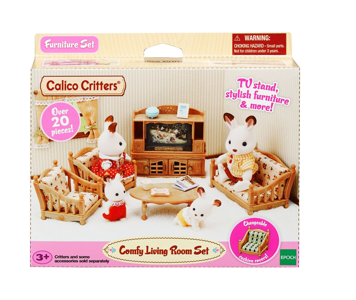 calico critters comfy living room set, furniture accessories
