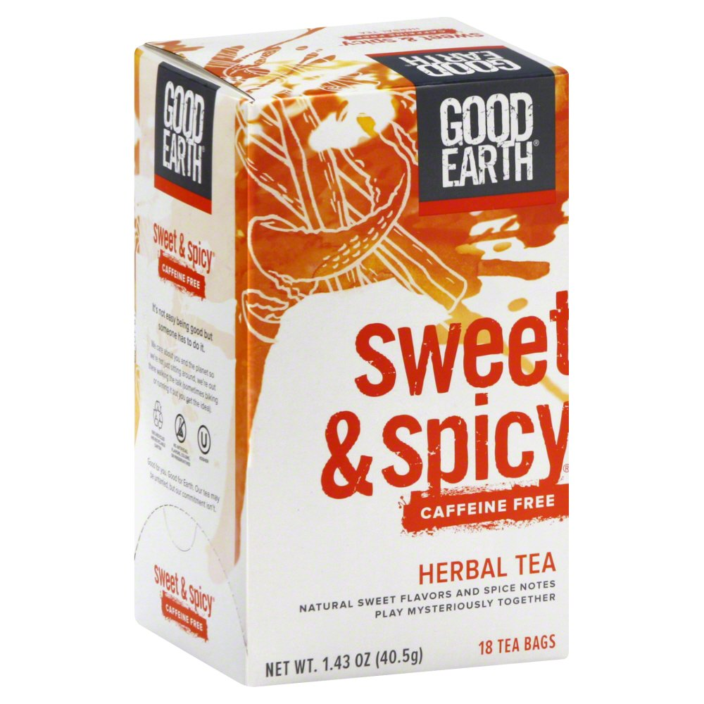 Good Earth Herbal Tea  Sweet and Spicy  Case of 6  18 Bags