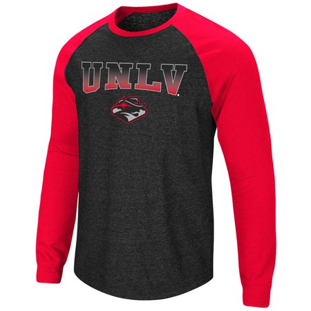 Unlv T-shirts - Mens UNLV Rebels Long Sleeve Raglan Tee Shirt - M