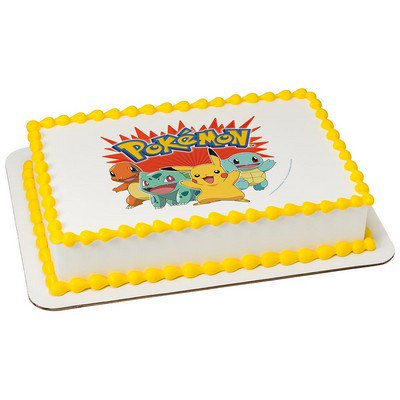 Pokemon 1 4 Quarter Sheet Edible Photo Image Cake Decoration