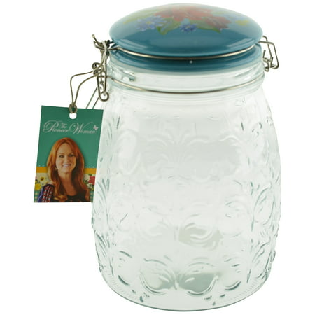 The Pioneer Woman Glass Jar with Hinged Ceramic Lid