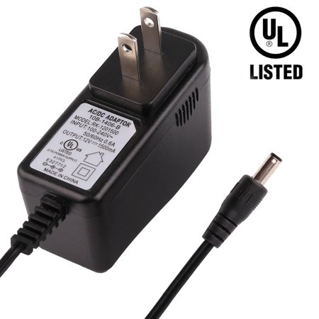 12V Power Adapter, Replacement Yamaha PA130 PA150, Universal Power Supply Charger Adaptor for Yamaha Keyboard PA PSR YPG YPT DD Series by LotFancy, UL Listed, 8.2Ft Cord ()