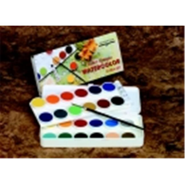 Grumbacher Non-Toxic Watercolor Paint Set With Brush And 7. 5 Ml.  Tube Of Chinese White, Set - 12