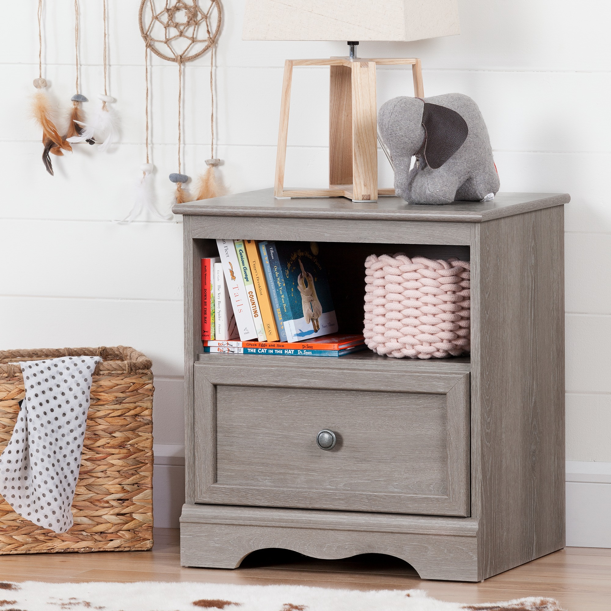 South Shore Savannah 1 Drawer Nightstand, Multiple Finishes   Walmart.com