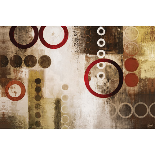 Canvas Wall Art Abstract Circles 21.5  x 32.5   sc 1 st  Walmart & Canvas Wall Art Abstract Circles 21.5