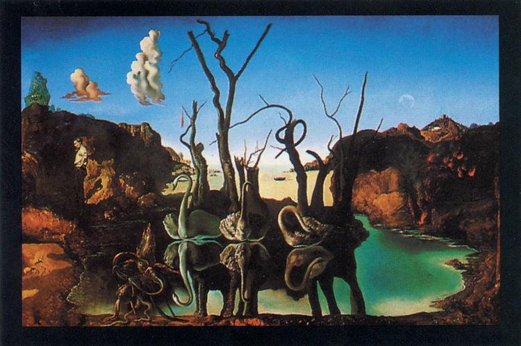 """Poster Large 24/""""x36/"""" p5950 Studio B Dali: Metamorphosis of Narcissus"""