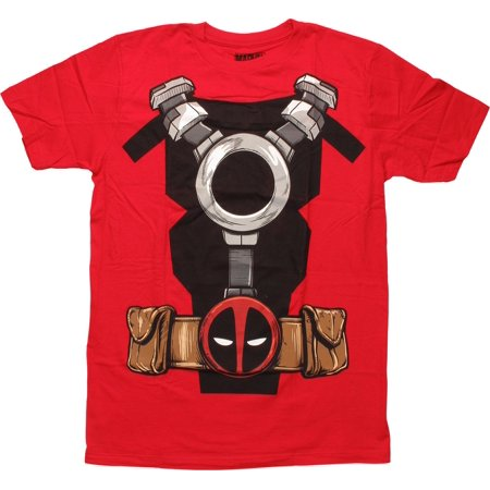 Deadpool Utility Belt Costume T-Shirt (Deadpool Belt Cosplay)