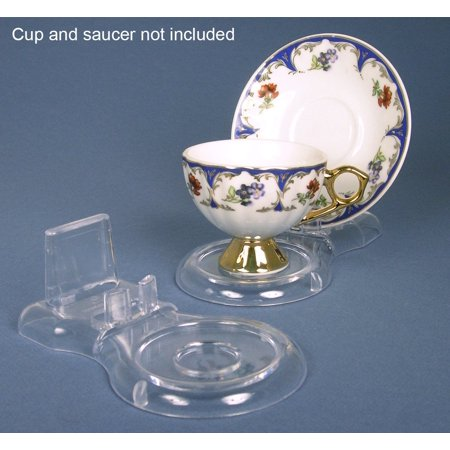 Acrylic Cup and Saucer Stand~Pack of 3 (Oval Cups & Saucers)