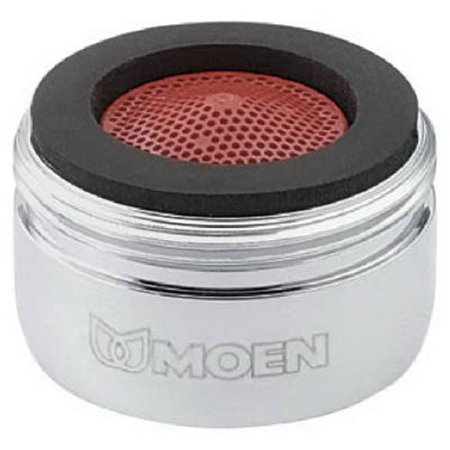 Simple Screw-in Replacement 2.2 GPM Male Thread Kitchen Faucet Aerator by Moen ()