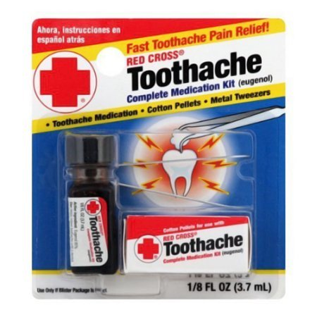 Red Cross Toothache Complete Medication Kit 0 12 Oz