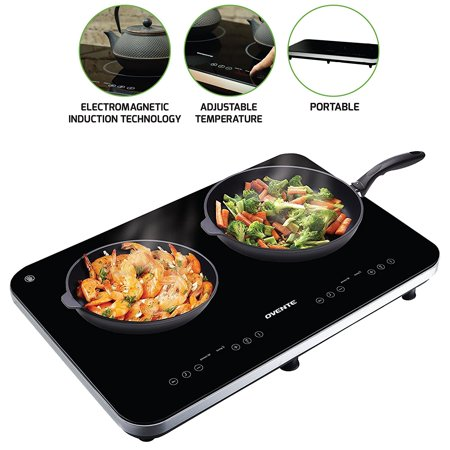 Ovente Induction Countertop Burner Cool Touch Ceramic Gl Cooktop With Temperature Control Timer