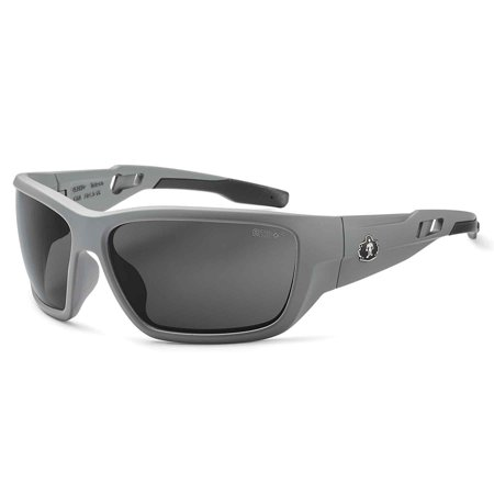 Skullerz Baldr Anti-Fog Safety Sunglasses-Matte Gray Frame, Smoke Lens, Solid gray frame with smoke anti-fog safety lens for outdoor use, full.., By (Sunglasses Used By Secret Service)