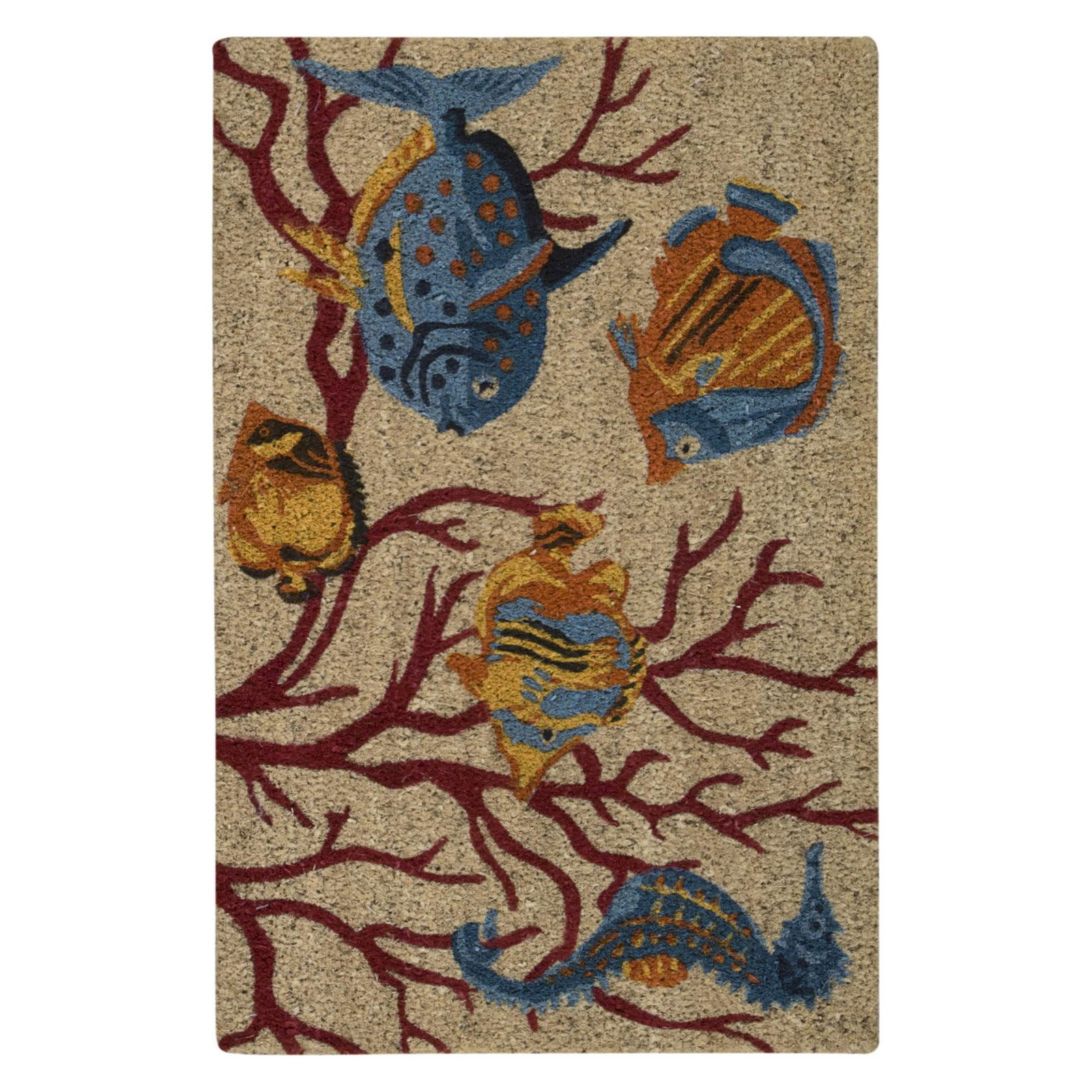 "Waverly Greetings ""Swimming Fish"" Beige Doormat by Nourison"