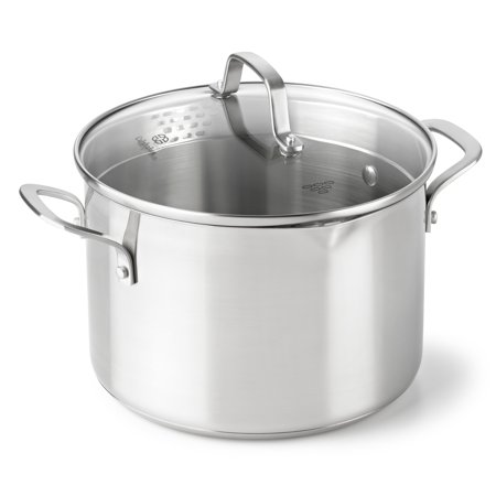 Calphalon Classic Stainless Steel 6-Quart Stock Pot with Cover, 1891274