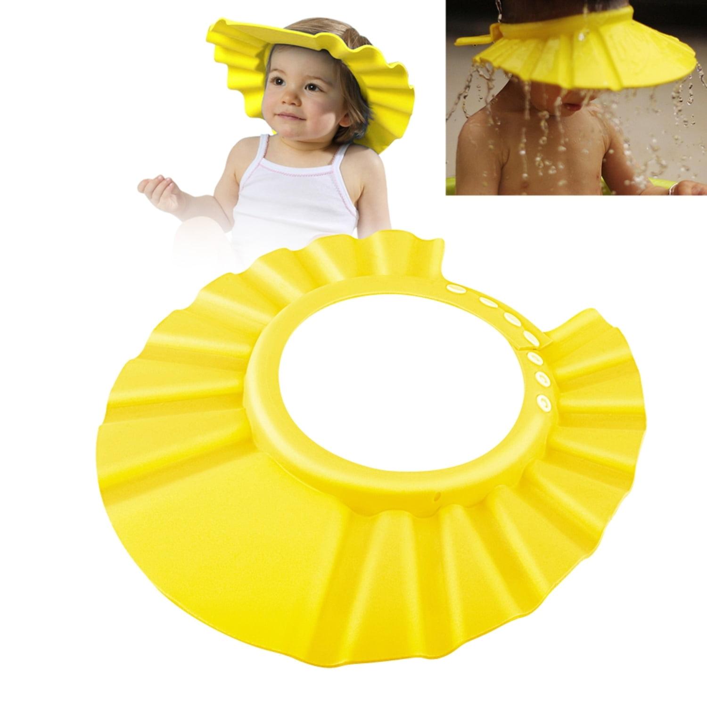 Zodaca Baby Kid Children Soft Shampoo Bath Shower Cap Hat EVA Foam  (Adjustable: 37 41 Cm)   Yellow   Walmart.com