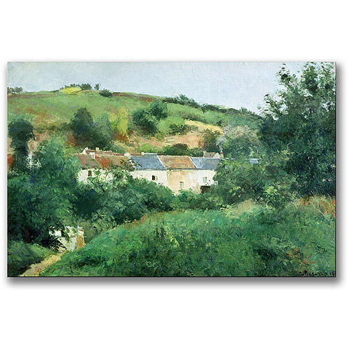 "Trademark Fine Art ""The Path In The Village"" Canvas Wall Art by Camille Pissaro"