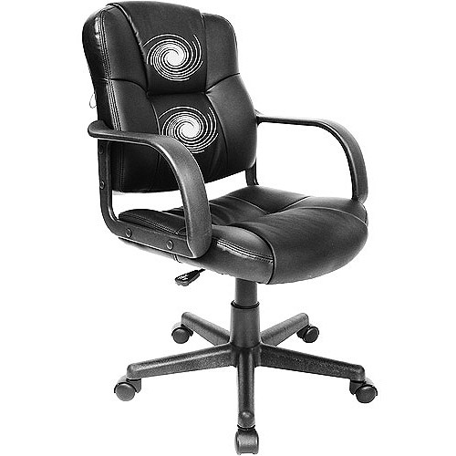 RelaxZen 2-Motor Mid-Back Leather Office Massage Chair, Multiple Colors