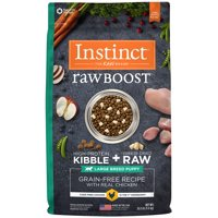 Instinct Raw Boost Large Breed Puppy Grain-Free Recipe with Real Chicken Natural Dry Dog Food by Nature's Variety, 20 lb. Bag