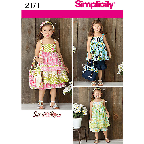 Simplicity Pattern Girl's Top, Pants and Accessories, (3, 4, 5, 6, 7, 8)