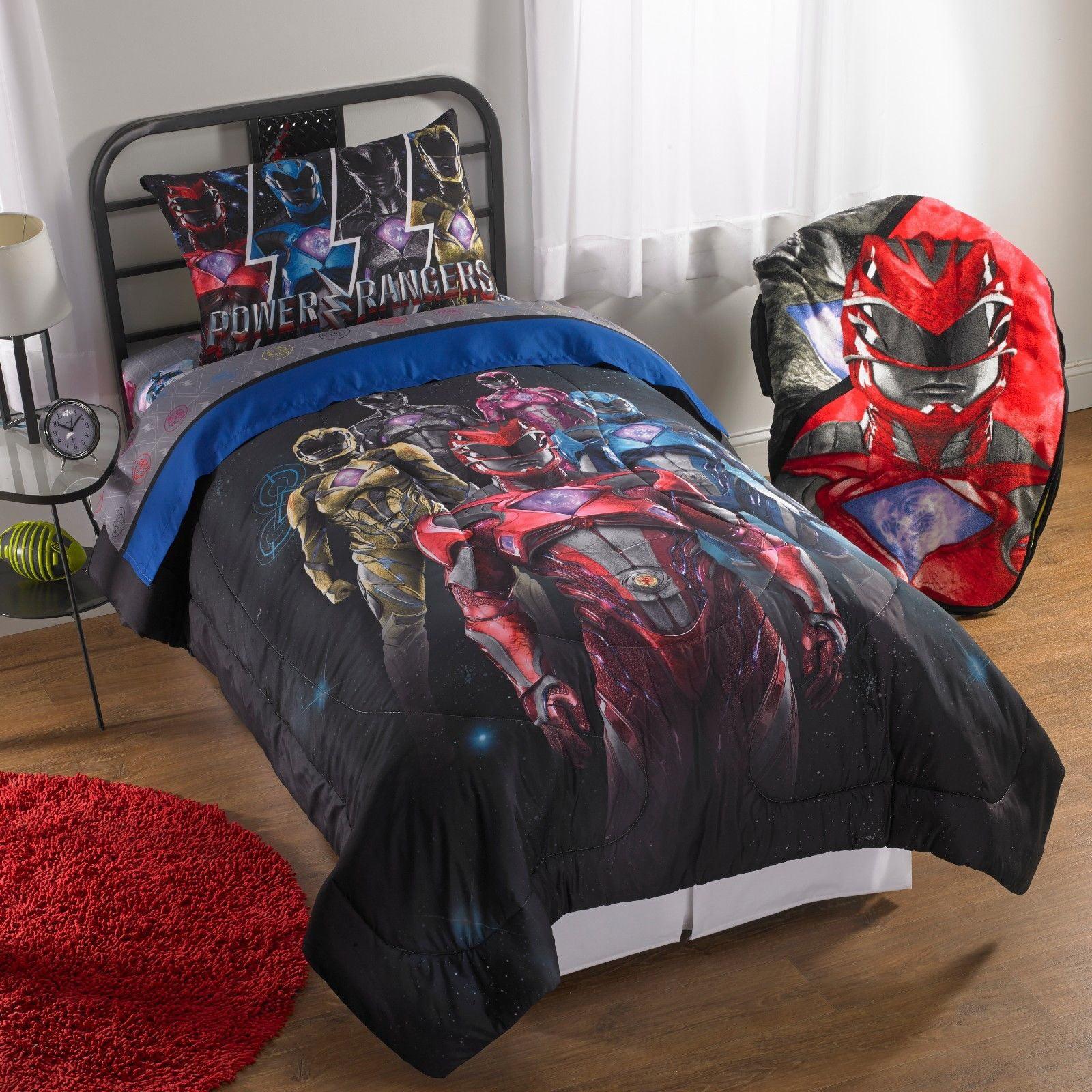 Power Rangers Boys Twin Comforter & Sheet Set (4 Piece Bed In A
