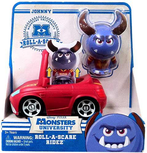 Disney / Pixar Monsters University Roll-a-Scare Ridez Johnny Figure Set
