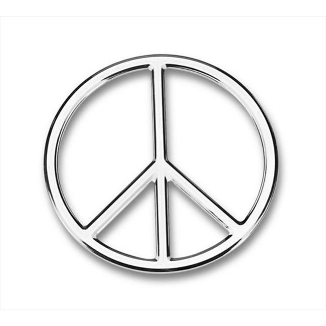 Cruiser Accessoires 83,063 3D Cals, signe de paix, Chrome, paquet de 12 - image 2 de 2