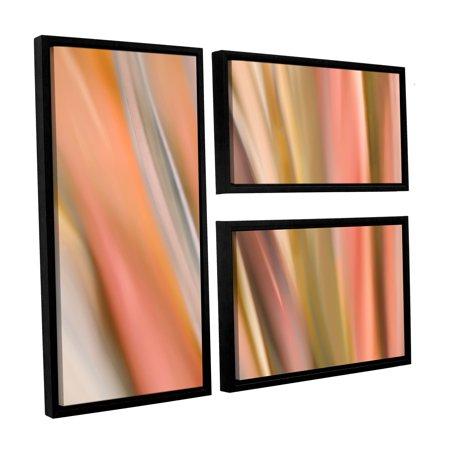 ArtWall 'Abstract Barcode' by Cora Niele 3 Piece Framed Graphic art on Wrapped Canvas Set - Promotional Code