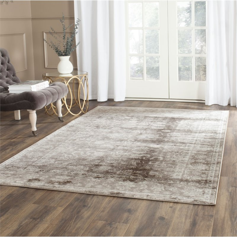 Hawthorne Collection 3' X 5' Power Loomed Rug in Brown and Ivory - image 2 of 3
