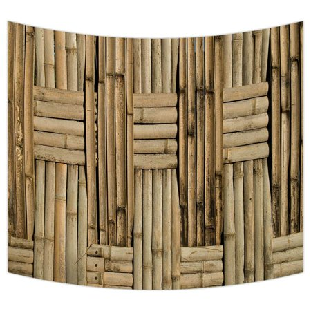 Zkgk Nature Bamboo Wall Tapestry Wall Hanging Wall Decor Art For Living Room Bedroom Dorm Cotton Linen Decoration 51x60 Inches