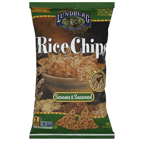Farm Chip - Lundberg Family Farms Sesame & Seaweed Rice Chips, 6 oz, (Pack of 12)