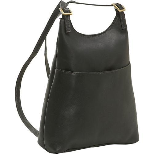 LeDonne Leather Women's Slim Sling Backpack Black