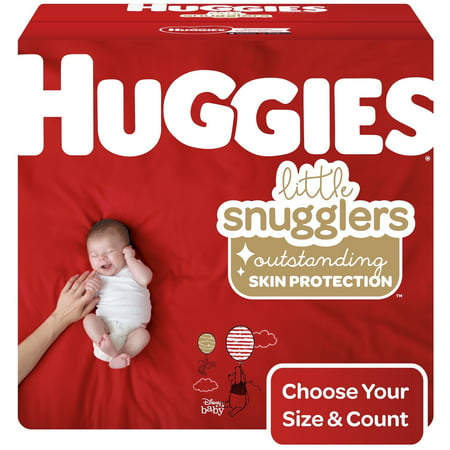 Huggies Little Snugglers Baby Diapers, Size 3, 156 Ct, Economy Plus Pack