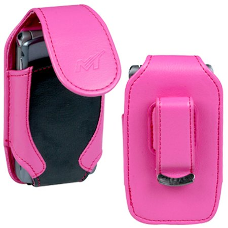 Insten Vertical Pouch Case 2713HB Hot Pink/Black For SAMSUNG A900 M610 U740 U540 T259 T159